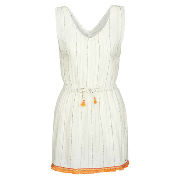textil Dame Korte kjoler Banana Moon MARZUL MANDALO Hvid / Orange