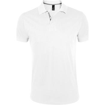 textil Herre Polo-t-shirts m. korte ærmer Sols PORTLAND MODERN SPORT Blanco