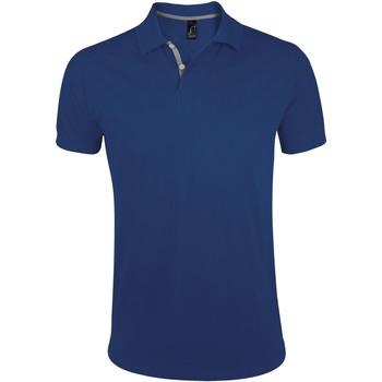 textil Herre Polo-t-shirts m. korte ærmer Sols PORTLAND MODERN SPORT Azul