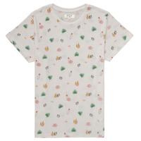 textil Pige T-shirts m. korte ærmer Deeluxe ELINA Hvid
