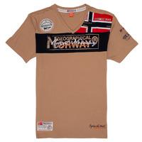 textil Dreng T-shirts m. korte ærmer Geographical Norway JIDNEY Beige