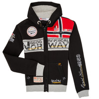 textil Dreng Sweatshirts Geographical Norway FLYER Sort