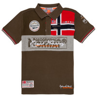 textil Dreng Polo-t-shirts m. korte ærmer Geographical Norway KIDNEY Kaki