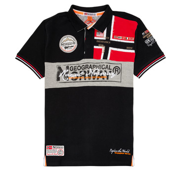 textil Dreng Polo-t-shirts m. korte ærmer Geographical Norway KIDNEY Sort