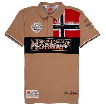 textil Dreng Polo-t-shirts m. korte ærmer Geographical Norway KIDNEY Beige
