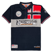 textil Dreng Polo-t-shirts m. korte ærmer Geographical Norway KIDNEY Marineblå