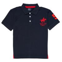 textil Dreng Polo-t-shirts m. korte ærmer Geographical Norway KAMPAI Marineblå