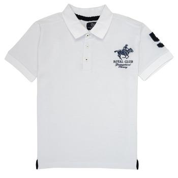 textil Dreng Polo-t-shirts m. korte ærmer Geographical Norway KAMPAI Hvid