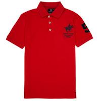 textil Dreng Polo-t-shirts m. korte ærmer Geographical Norway KAMPAI Rød