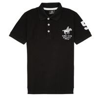 textil Dreng Polo-t-shirts m. korte ærmer Geographical Norway KAMPAI Sort