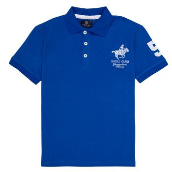 textil Dreng Polo-t-shirts m. korte ærmer Geographical Norway KAMPAI Blå