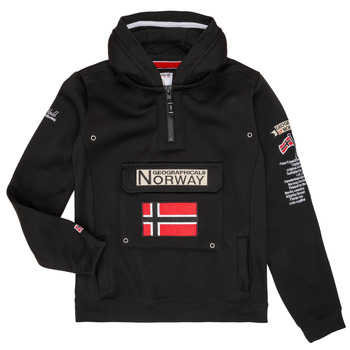 textil Dreng Sweatshirts Geographical Norway GYMCLASS Sort