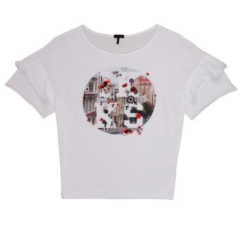textil Pige T-shirts m. korte ærmer Ikks DIBILIOU Hvid