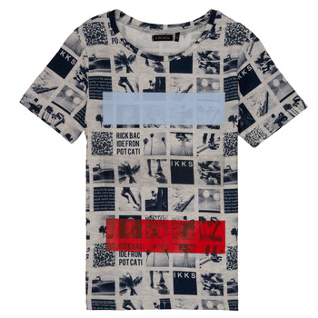 textil Dreng T-shirts m. korte ærmer Ikks YVES Beige