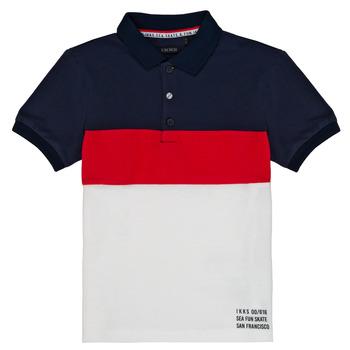 textil Dreng Polo-t-shirts m. korte ærmer Ikks LORIE Hvid