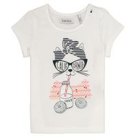 textil Pige T-shirts m. korte ærmer Ikks MEOLIA Hvid
