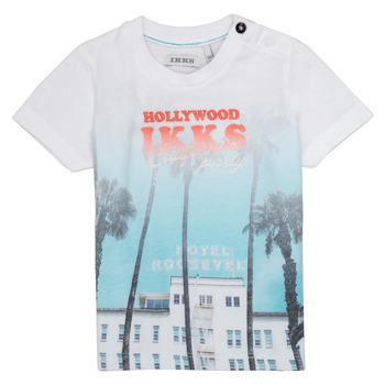 textil Dreng T-shirts m. korte ærmer Ikks JOSIANE Hvid