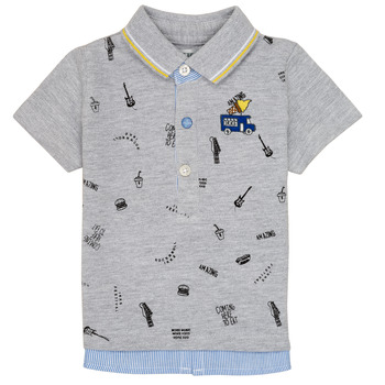 textil Dreng Polo-t-shirts m. korte ærmer Ikks MAELYS Grå