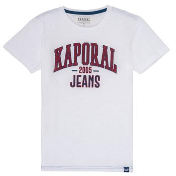 textil Dreng T-shirts m. korte ærmer Kaporal ERNIE Hvid