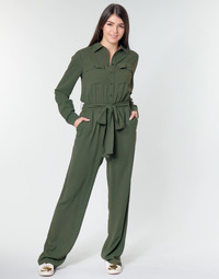textil Dame Buksedragter / Overalls MICHAEL Michael Kors ROLL SLV SAFARI JMPST Kaki