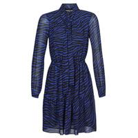 textil Dame Korte kjoler MICHAEL Michael Kors BOLD BENGAL TIER DRS Blå / Sort
