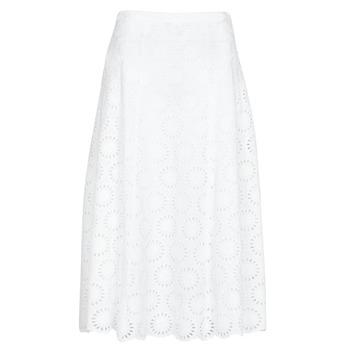textil Dame Nederdele MICHAEL Michael Kors FLORAL EYLT LNG SKIRT Hvid