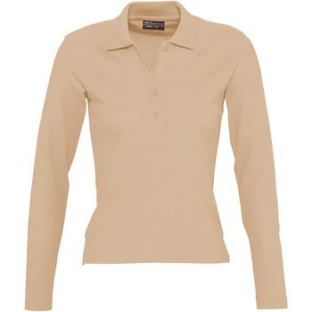 textil Dame Polo-t-shirts m. lange ærmer Sols PODIUM COLORS Marrón