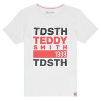 textil Dreng T-shirts m. korte ærmer Teddy Smith DUSTIN Hvid