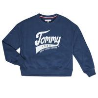 textil Pige Sweatshirts Tommy Hilfiger KG0KG04955 Marineblå