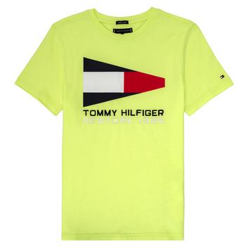 textil Dreng T-shirts m. korte ærmer Tommy Hilfiger KB0KB05628 Gul