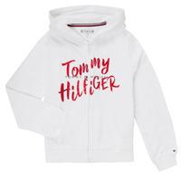 textil Pige Korte kjoler Tommy Hilfiger KG0KG05094 Hvid