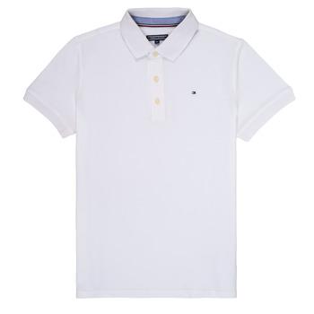 textil Dreng Polo-t-shirts m. korte ærmer Tommy Hilfiger KB0KB03975 Hvid