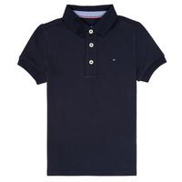 textil Dreng Polo-t-shirts m. korte ærmer Tommy Hilfiger KB0KB03975 Marineblå