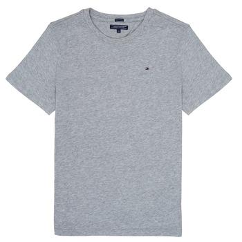 textil Dreng T-shirts m. korte ærmer Tommy Hilfiger  Grå