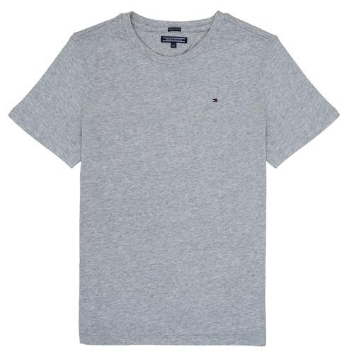 textil Dreng T-shirts m. korte ærmer Tommy Hilfiger KB0KB04140 Grå