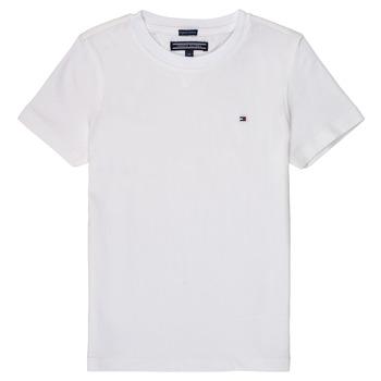 textil Dreng T-shirts m. korte ærmer Tommy Hilfiger KB0KB04140 Hvid