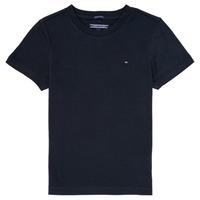 textil Dreng T-shirts m. korte ærmer Tommy Hilfiger KB0KB04140 Marineblå