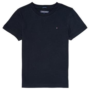 textil Dreng T-shirts m. korte ærmer Tommy Hilfiger  Marineblå