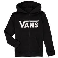 textil Dreng Sweatshirts Vans BY VANS CLASSIC ZIP HOODIE Sort