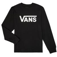 textil Dreng Langærmede T-shirts Vans BY VANS CLASSIC LS Sort