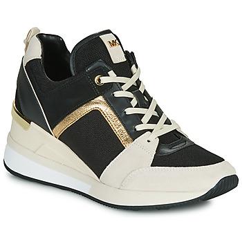 Sko Dame Lave sneakers MICHAEL Michael Kors GEORGIE Sort / Beige / Guld