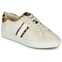 Sko Dame Lave sneakers MICHAEL Michael Kors IRVING STRIPE LACE UP Beige / Leopard