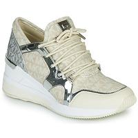 Sko Dame Lave sneakers MICHAEL Michael Kors LIV TRAINER Beige / Sølv