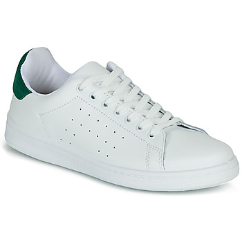 Sko Dame Lave sneakers Yurban SATURNA Hvid / Grøn