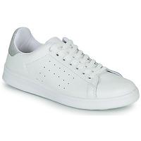 Sko Dame Lave sneakers Yurban SATURNA Hvid / Sølv
