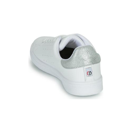 Yurban Saturna Hvid / Sølv - Gratis Fragt- Sko Lave Sneakers Dame 375