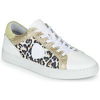 Sko Dame Lave sneakers Philippe Morvan FURRY Hvid / Leopard / Glitter