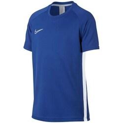 textil Dreng T-shirts m. korte ærmer Nike JR Dry Fit Academy Blå