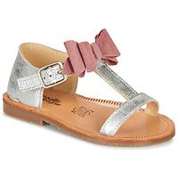 Sko Pige Sandaler Citrouille et Compagnie MELINDA Pink / Guld