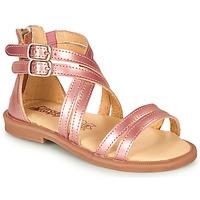 Sko Pige Sandaler Citrouille et Compagnie IMOURAT Pink / Guld